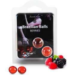 SECRET PLAY SET 2 BRAZILIAN BALLS AROMA FRUTAS DEL BOSQUE