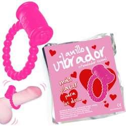 ANILLO VIBRADOR LOVE 1 UNIDAD - COLORES SURTIDOS