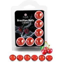SET 6 BRAZILIAN BALLS CEREZA