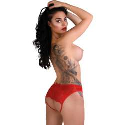 DARING NICOLETTE CROTCHLESS PANTY-ROJO